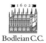 Bodleian CC Seniors