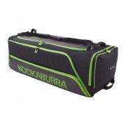 2020 Kookaburra Pro 2.0 Wheelie Cricket Bag - Black/Lime
