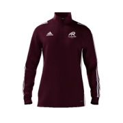 All Rounder Golf Adidas Maroon Zip Junior Training Top