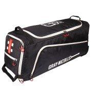 2020 Gray Nicolls GN 500 Wheelie Cricket Bag - Black & Silver