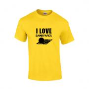 """""""I Love Sandpaper"""" Slogan T-Shirt"""