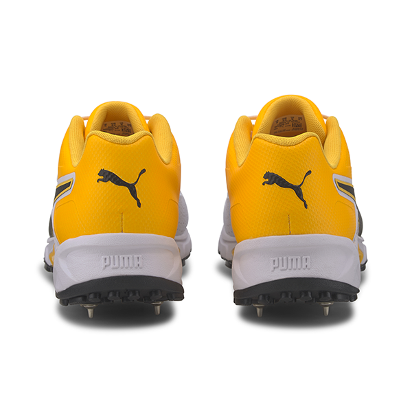 2021 Puma 19.1 Spike Cricket Shoes - White/Black/Orange
