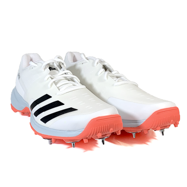 2021 Adidas 22YDS Full Spike II Cricket Shoes - Solar Red