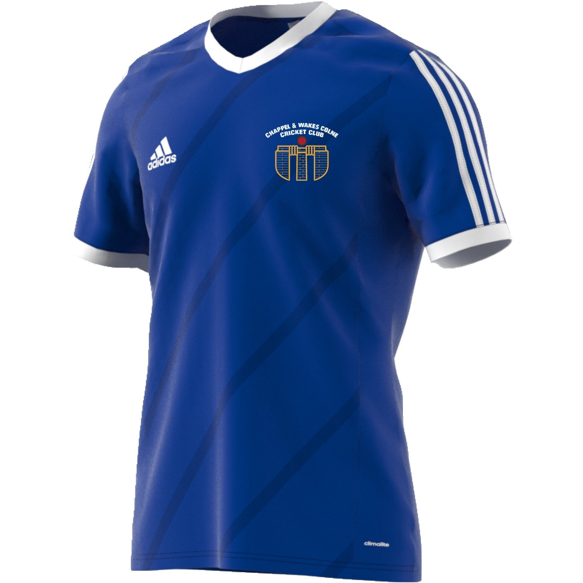 Chappel & Wakes Colne CC Adidas Blue Junior Training Jersey
