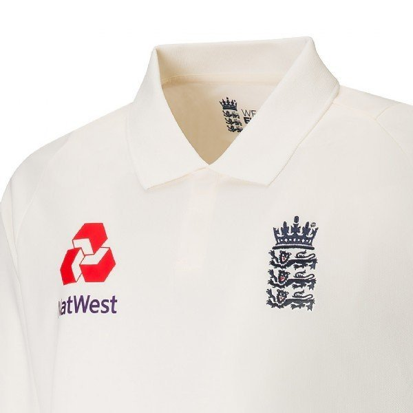 2017 New Balance England Replica Junior Test Cricket Shirt