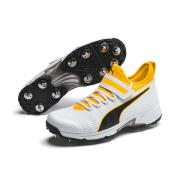 2020 Puma 19.1 Bowling Spike Cricket Shoes - White/Black/Orange