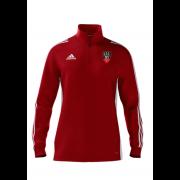 Churchtown CC Adidas Red Zip Junior Training Top