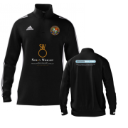 Streatham and Marlborough CC Adidas Black Zip Junior Training Top