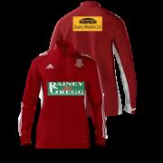 Ballymena CC Adidas Red Zip Junior Training Top