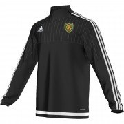 Hale Barns CC Adidas Black Junior Training Top