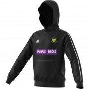 Warton CC Adidas Black Junior Fleece Hoody