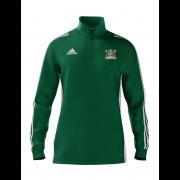 Clipstone and Bilsthorpe CC Adidas Green Zip Junior Training Top