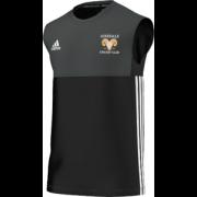 Airedale CC Adidas Black Training Vest