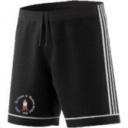St Crispin & Ryelands CC Adidas Black Training Shorts