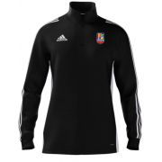 Sileby Town CC Adidas Black Zip Training Top