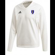 Merthyr CC Adidas Elite Long Sleeve Sweater