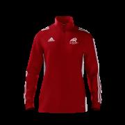 All Rounder Golf Adidas Red Zip Junior Training Top