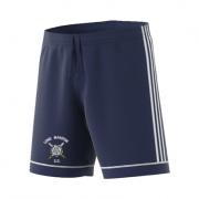 Long Marston CC Adidas Navy Junior Training Shorts