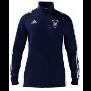Long Marston CC Adidas Navy Zip Junior Training Top
