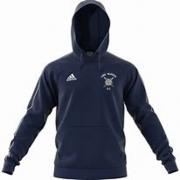 Long Marston CC Adidas Navy Junior Fleece Hoody