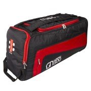 2020 Gray Nicolls GN 300 Wheelie Cricket Bag - Black & Red