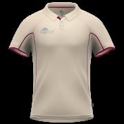 Samurai Junior Maroon Short Sleeve Cricket Shirt