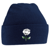 West Hallam White Rose CC Navy Beanie
