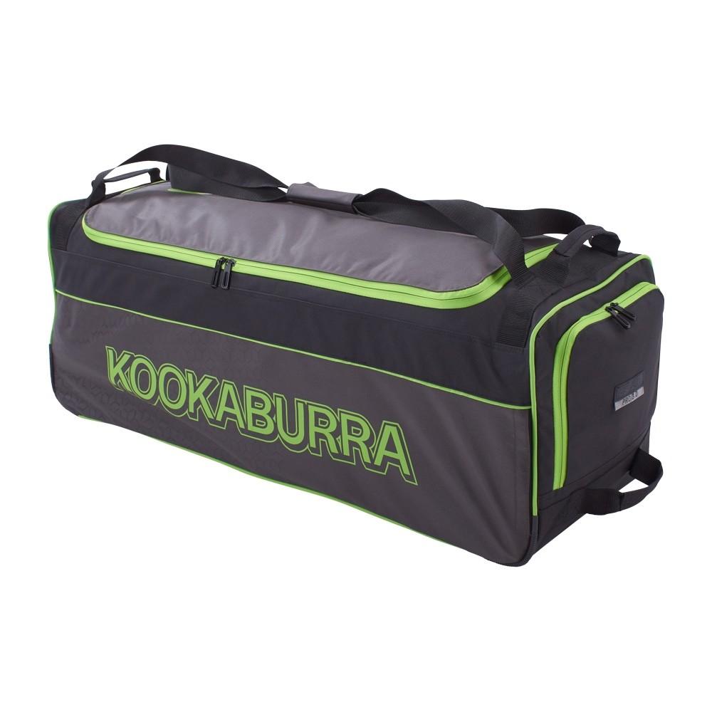 2020 Kookaburra Pro 3.0 Wheelie Cricket Bag - Black/Lime
