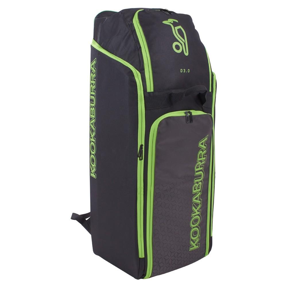 2020 Kookaburra d3 Duffle Cricket Bag - Black/Lime