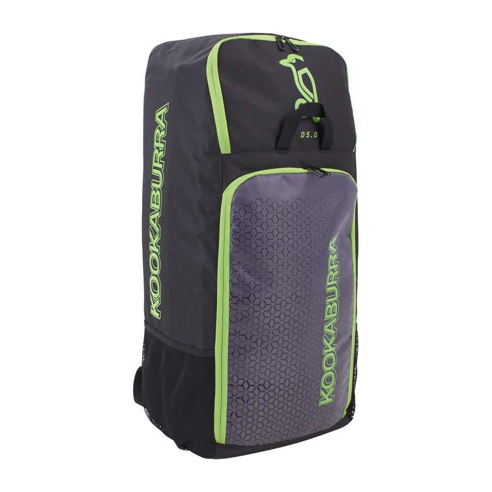 2020 Kookaburra d5 Duffle Cricket Bag - Black/Lime