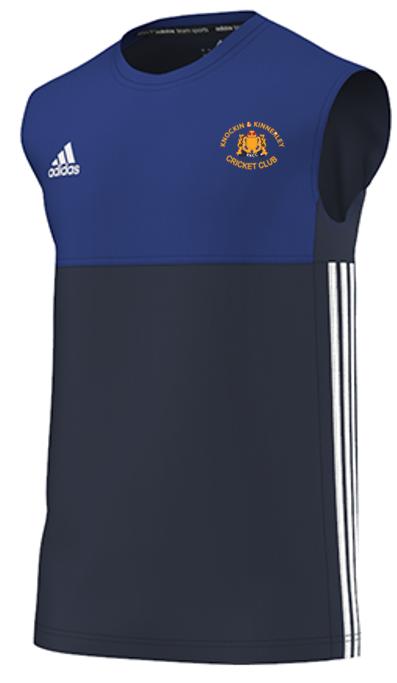 Knockin and Kinnerley CC Adidas Navy Training Vest