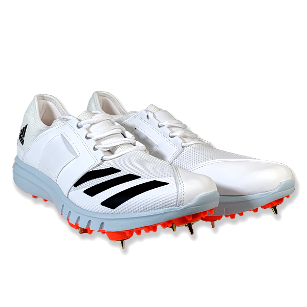 2021 Adidas Howzat Full Spike Cricket Shoes - Solar Red