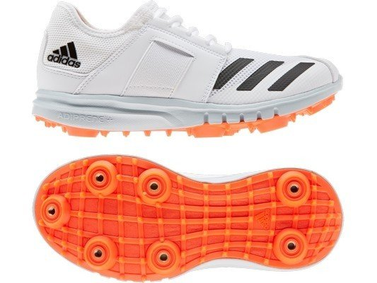 2021 Adidas Howzat Junior Full Spike Cricket Shoes - Solar Red