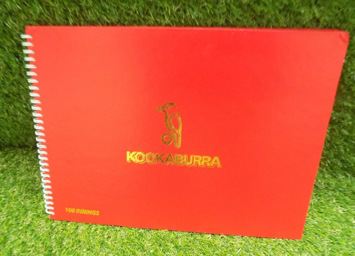 Kookaburra 100 Innings Cricket Scorebook
