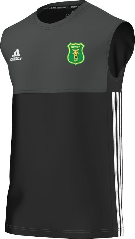 Norton Lindsey & Wolverton CC Adidas Black Training Vest