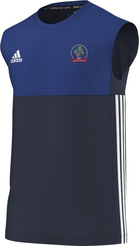 Liphook and Ripsley CC Adidas Navy Training Vest