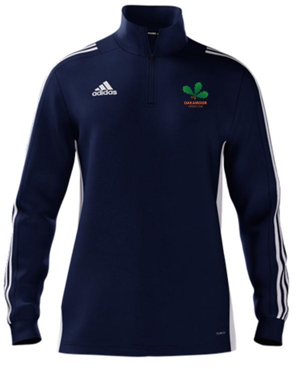 Oakamoor CC Adidas Navy Zip Training Top