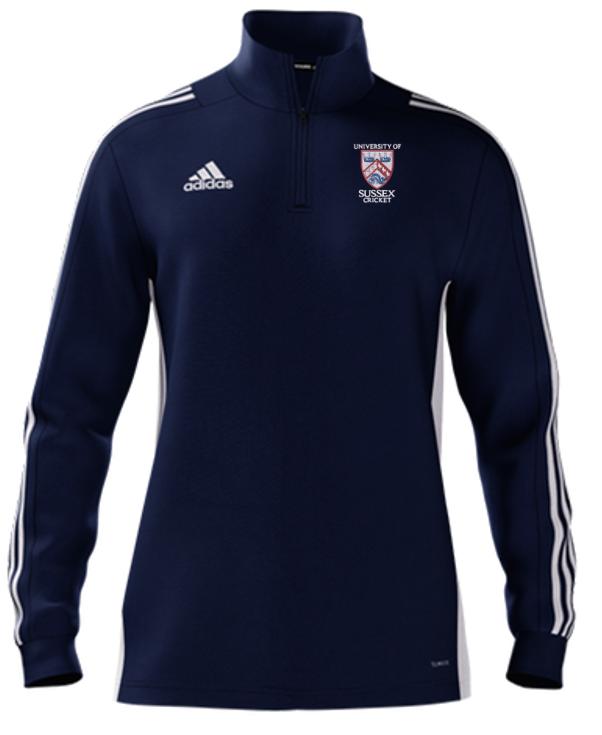 University of Sussex CC Adidas Navy Zip Training Top