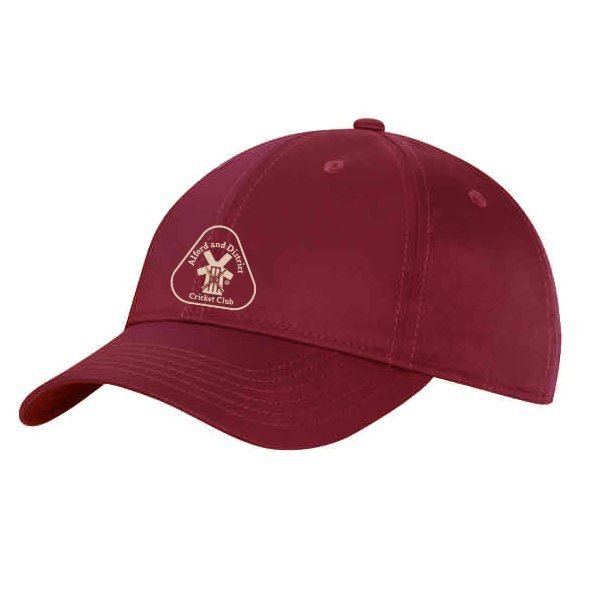 Alford and District CC Albion Maroon Baseball Cap