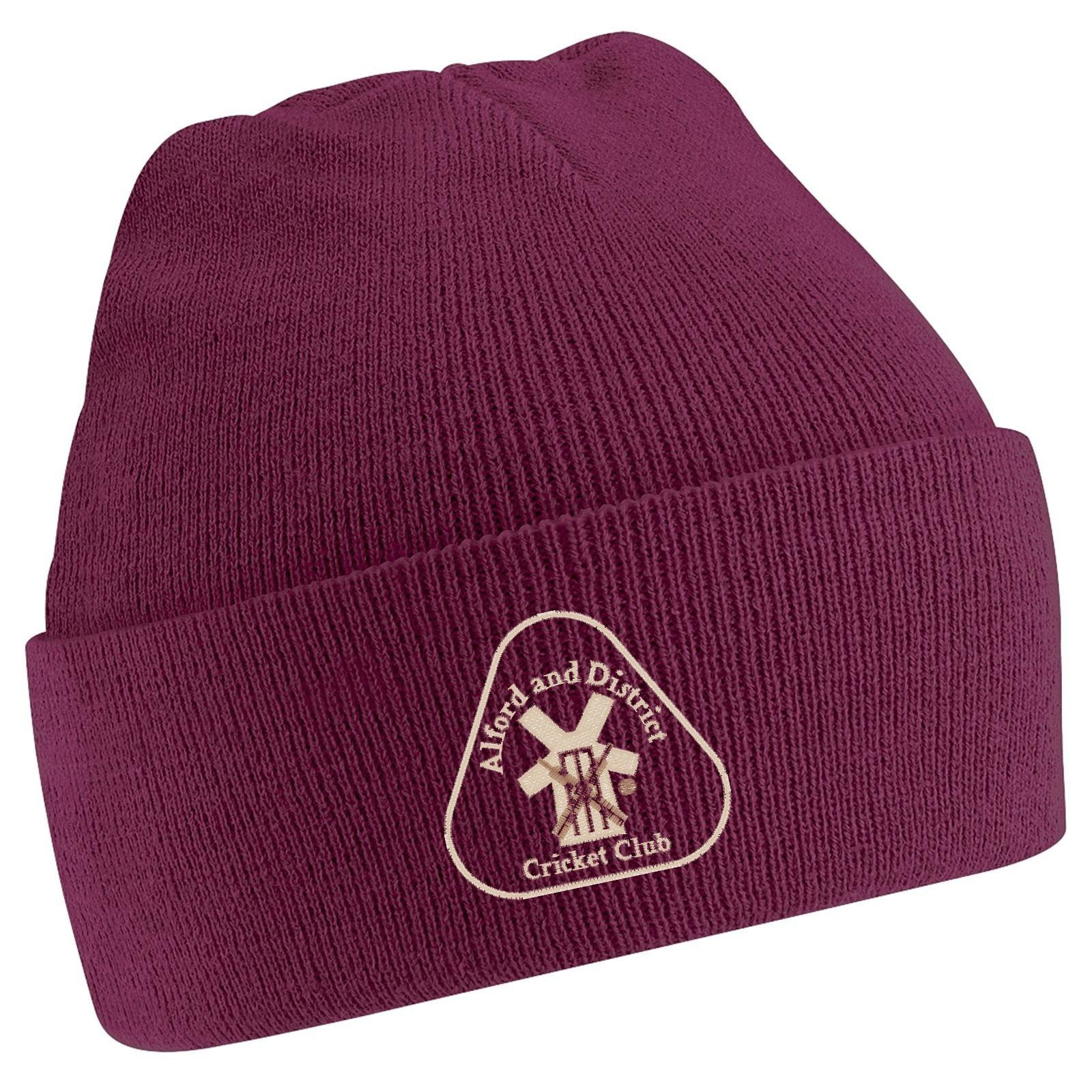 Alford and District CC Maroon Beanie