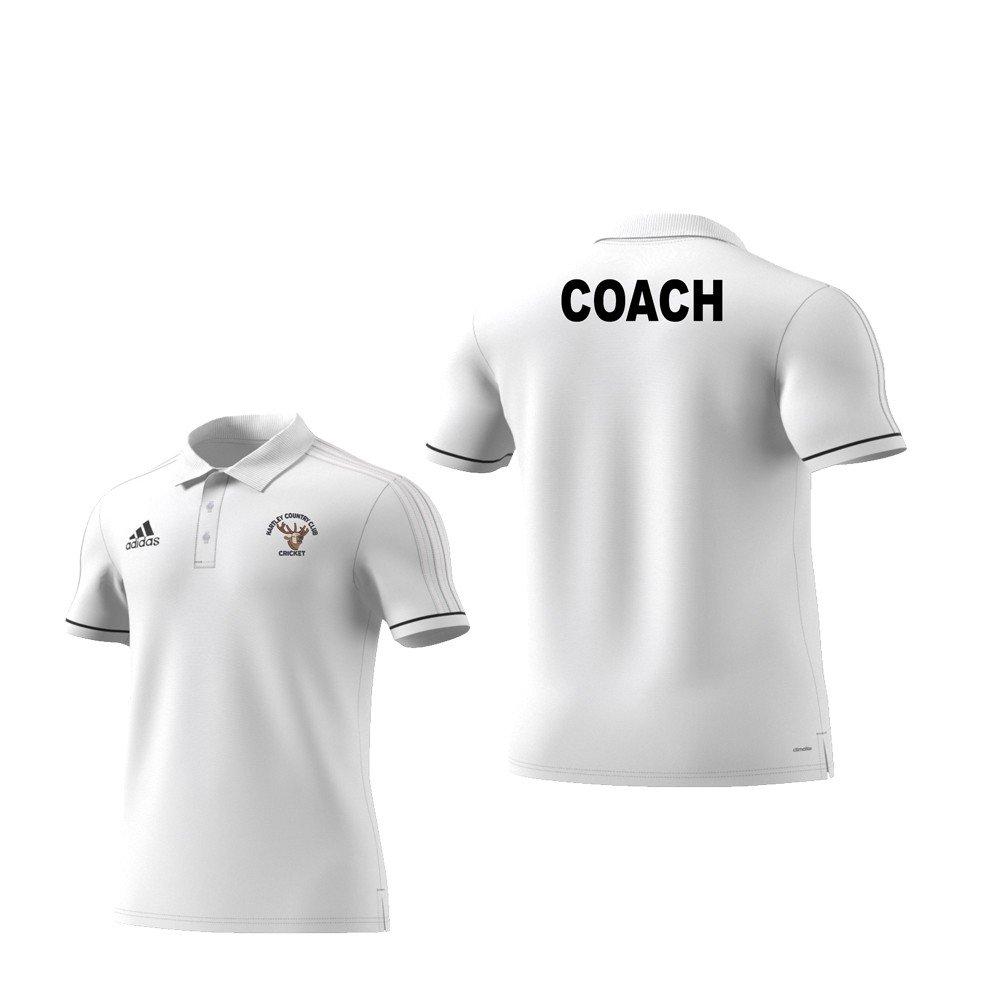 Hartley Country Club Coaches Adidas White Polo