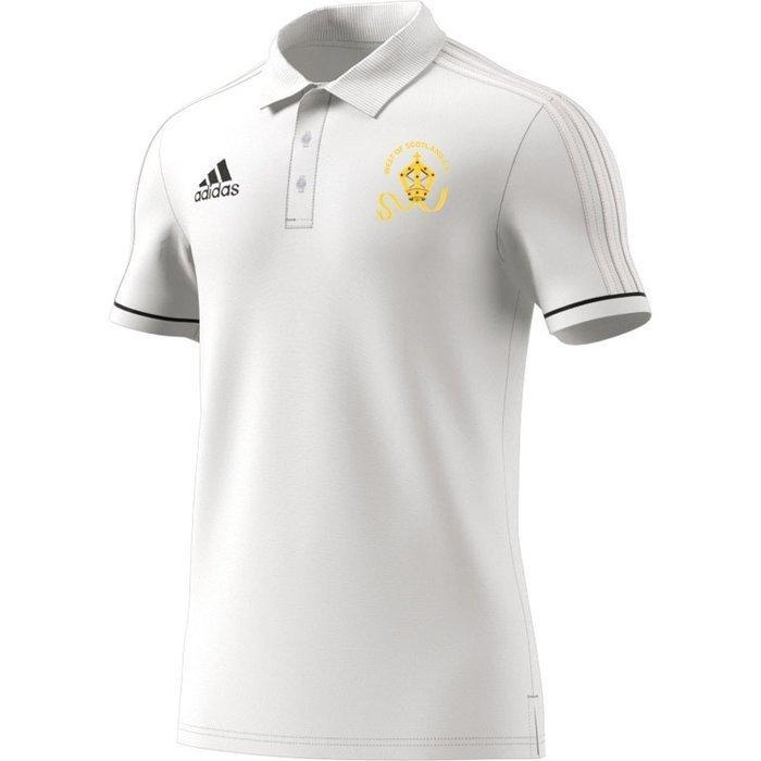 West of Scotland CC Adidas White Polo