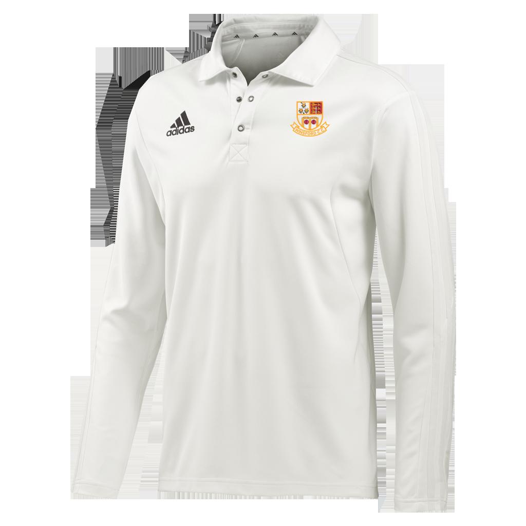 Winsford CC Adidas Elite Long Sleeve Shirt