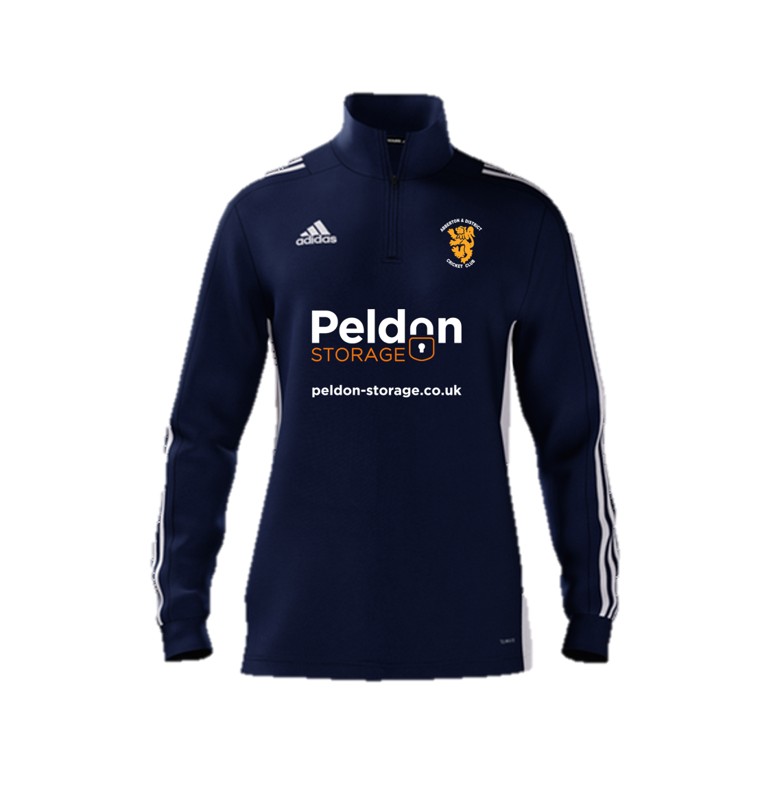 Abberton and District CC Adidas Navy Zip Junior Training Top