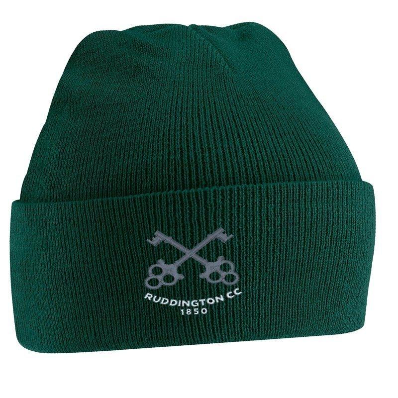 Ruddington CC Green Beanie
