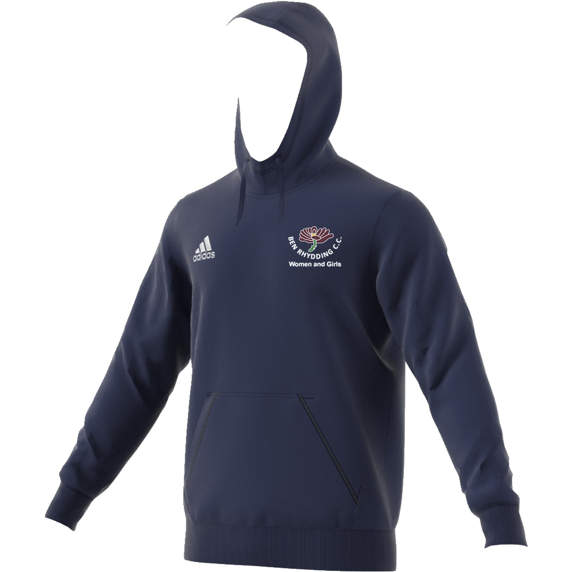 Ben Rhydding CC Adidas Navy Junior Hoody