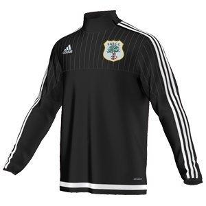 Fulwood & Broughton CC Adidas Black Training Top