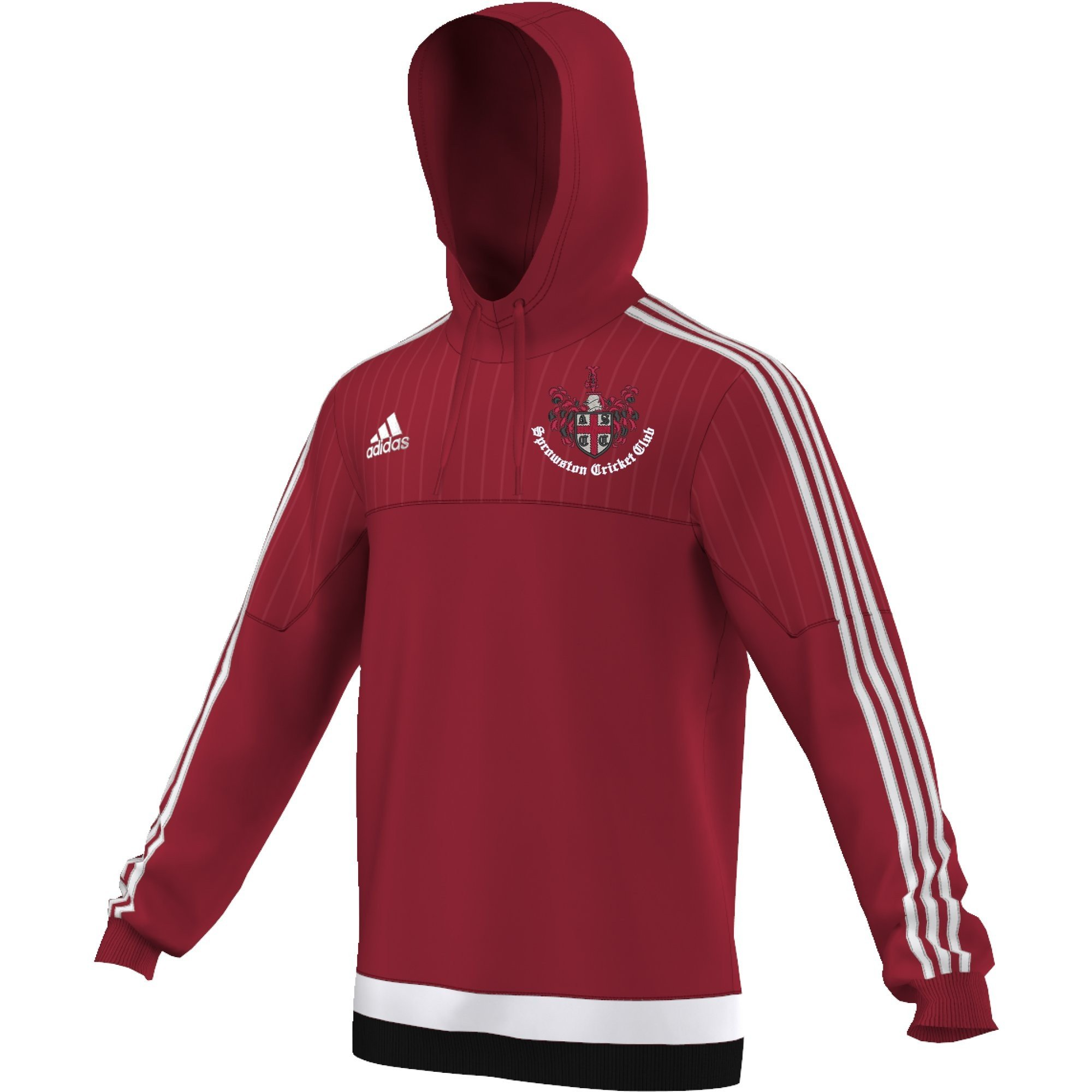 Sprowston CC Adidas Red Hoody