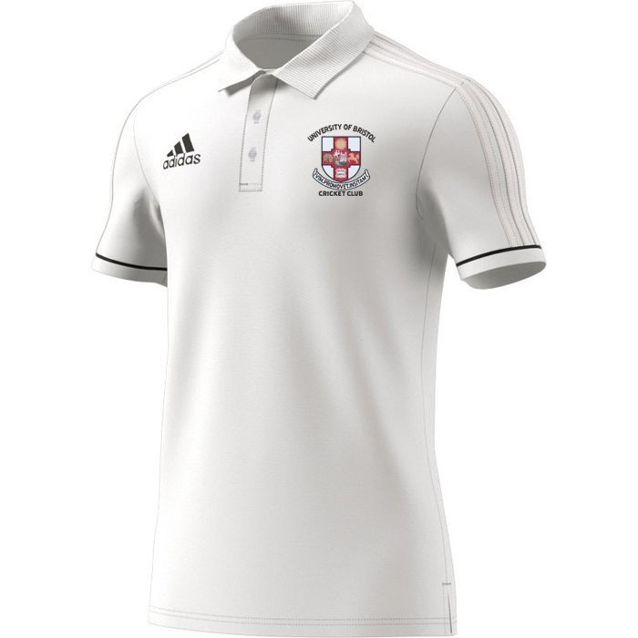 University of Bristol CC Adidas White Polo