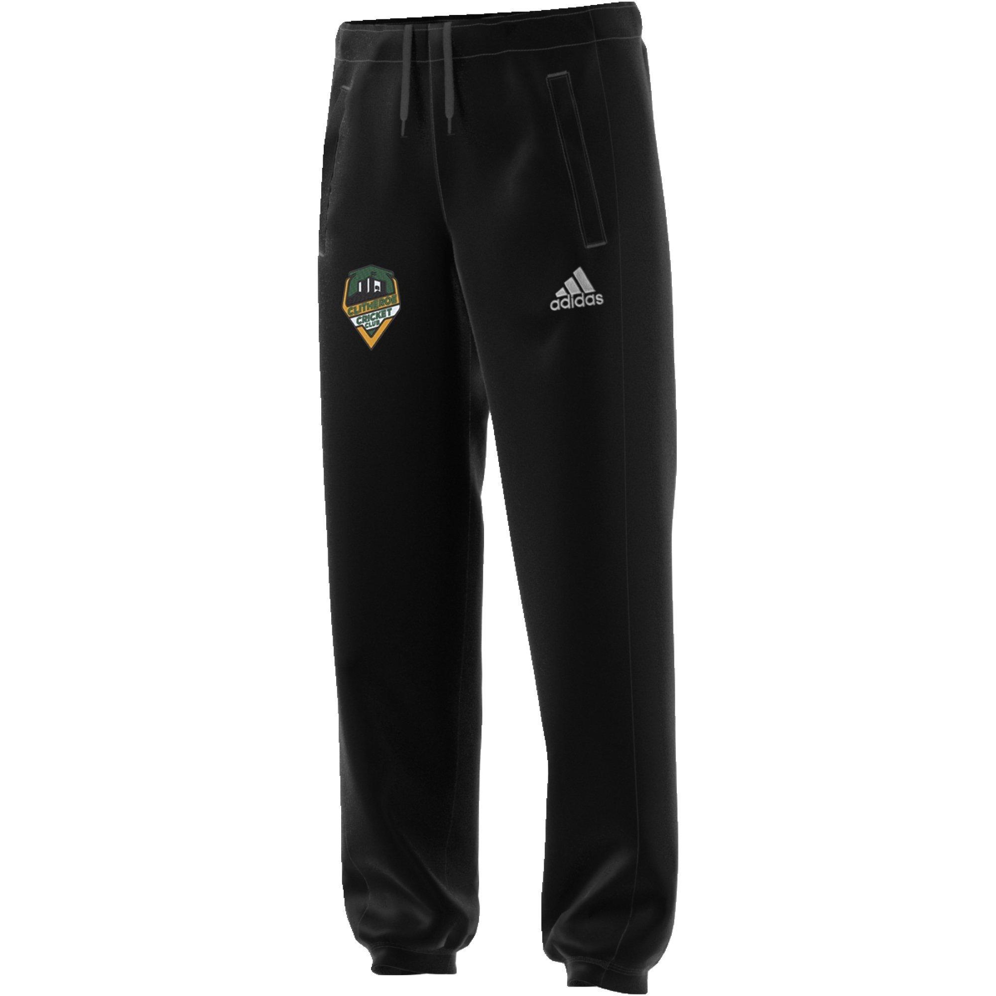 Clitheroe CC Adidas Black Sweat Pants